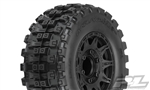 "Pro-Line Badlands MX28 HP 2.8"" All Terrain BELTED Truck Tires Mounted on Raid Black Wheels (2)"
