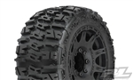 "Pro-Line Trencher LP 3.8"" All Terrain Tires Mounted on Raid Black Wheels (2)"