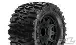 "Pro-Line Trencher 2.8"" All Terrain Tires Mounted on Raid Black Wheels (2)"