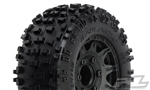 "Pro-Line Badlands 2.8"" All Terrain Tires Mounted on Raid Black Wheels (2)"
