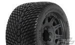 "Pro-Line Road Rage 3.8"" Street Tires Mounted on Raid Black Wheels (2)"