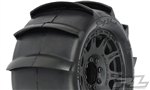 "Pro-Line Sling Shot 3.8"" Sand Tires Mounted on Raid Black Wheels (2)"
