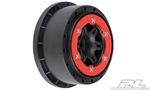 "Pro-Line Split Six 2.2""/3.0"" Red/Black Bead-Loc Wheels Slash Rear, Slash 4x4 F/R, SCRT10 F/R & Blitz F/R (2)"