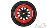 "Pro-Line Racing ProTrac F-11 2.2""/3.0"" Red/Black Bead-Loc Wheels"