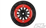 "Pro-Line F-11 2.2""/3.0"" Red/Black Bead-Loc Wheels (2)"