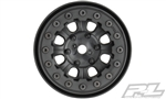 "Pro-Line Denali 1.9"" Black/Black Bead-Loc 8 Spoke Front or Rear Wheels (2) for Rock Crawlers"