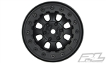 "Pro-Line Denali 2.2"" Black/Black Bead-Loc 8 Spoke Front or Rear Wheels (2) for Rock Crawlers"