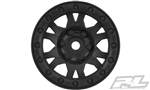 "Pro-Line Impulse 1.9"" Black Plastic Internal Bead-Loc Wheels (2) for Rock Crawlers"