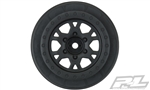 "Pro-Line Impulse 2.2""/3.0"" Black Front Wheels (2) Slash 2wd"