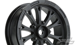 "Pro-Line Pomona Drag Spec 2.2"" Black Front Wheels (2)"
