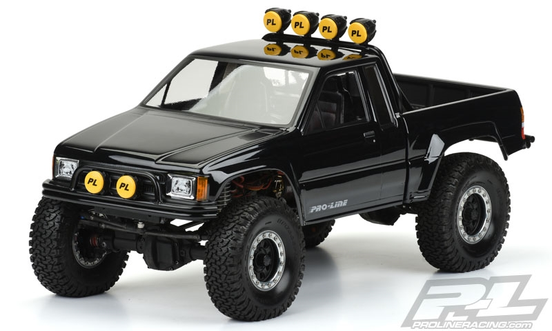 Pro-Line 1985 Toyota HiLux SR5 Clear Body (Cab & Bed) for SCX10 Trail  Honcho 12 3 Wheelbase