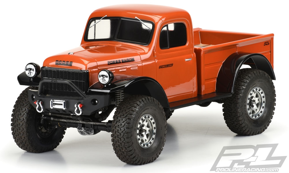 """Pro-Line 1946 Dodge Power Wagon Clear Body for 12.3"""" (313mm) WB"""