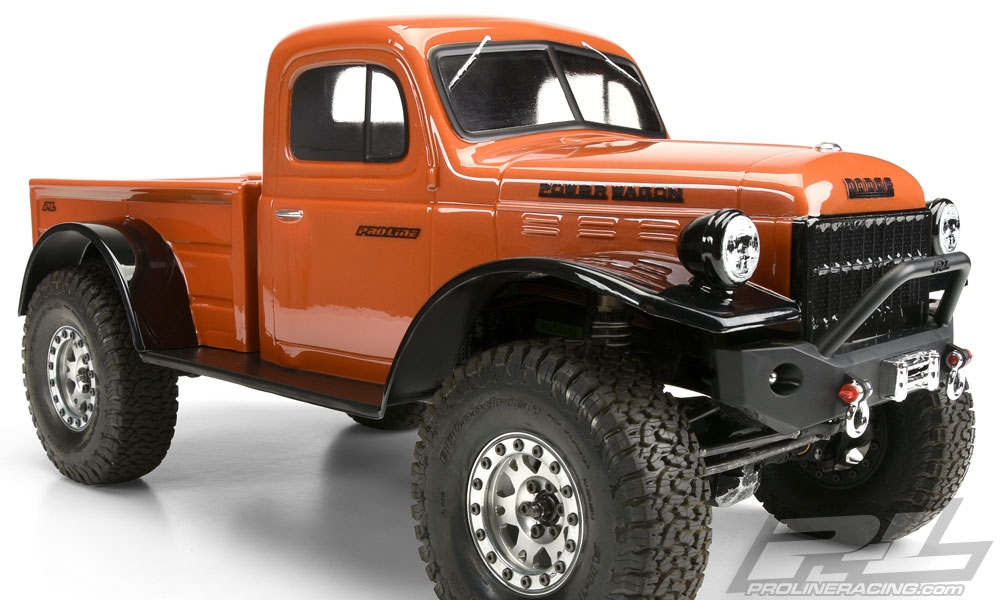 Dodge Power Wagon >> Pro Line 1946 Dodge Power Wagon Clear Body For 12 3 313mm Wb