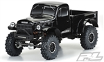 "Pro-Line 1946 Dodge Power Wagon Tough-Color Black Body for 12.3"" (313mm) WB"