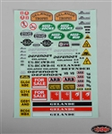 RC4WD Gelande 2 Decal Sheet for Land Rover Defender D90 Hard Plastic Body Kit
