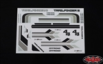RC4WD Complete Graphic Decal Set for Mojave II 2/4 Door Body