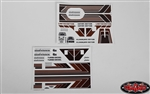 RC4WD Complete Graphic Decal Set for Cruiser Body