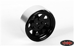 "RC4WD 5 Lug Wagon 1.9"" Single Steel Stamped Beadlock Wheel (Black) (1) Spare"
