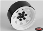 "RC4WD 6 Lug Wagon 1.9"" Single Steel Stamped Beadlock Wheel (White) (1) Spare"