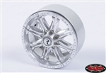 "RC4WD Raceline Octane 2.2"" Single Beadlock Wheel (Silver) (1) Spare"