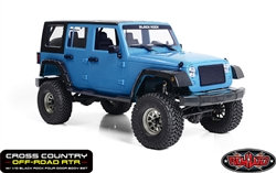 RC4WD Cross Country Off-Road RTR with Black Rock Four Door Body