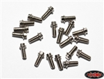 RC4WD Miniature Scale Hex Bolts (M2.5 x 6mm) (Silver)
