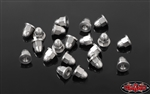 RC4WD M2 Flanged Acorn Nuts (Silver)