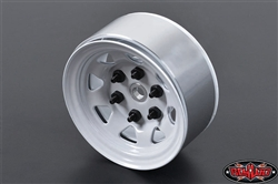 "RC4WD Stamped Steel 1.55"" Stock Beadlock Wheels White (4)"