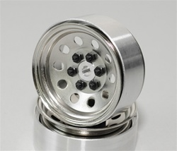 "RC4WD Pro10 1.9"" Steel Stamped Beadlock Wheel (Silver) (4)"
