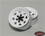RC4WD 6 Lug Wagon 1.9 Steel Stamped Beadlock Wheels (White) (4)