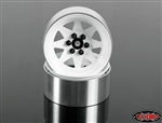 "RC4WD 6 Lug Wagon 2.2"" Steel Stamped Beadlock Wheels (White) (4)"
