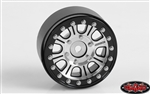 RC4WD Raceline Monster 1.7 Beadlock Wheels (Silver/Black)