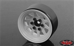 "RC4WD OEM Stamped Steel 1.9"" Beadlock Wheels (White) (4)"
