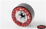 "RC4WD TRO 1.7"" Stamped Steel Beadlock Wheels (Red/Chrome)"