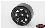 RC4WD Stamped Steel 1.0 Stock Beadlock Wheels (Black) (4)