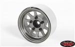 "RC4WD OEM Stamped Steel 1.55"" Beadlock Wheels (Plain) (4)"