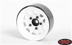 "RC4WD OEM Stamped Steel 1.55"" Beadlock Wheels (White) (4)"