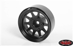 "RC4WD OEM Stamped Steel 1.55"" Beadlock Wheels (Black) (4)"