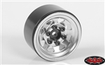 "RC4WD Stamped Steel 1.0"" Stock Beadlock Wheels (Chrome) (4)"