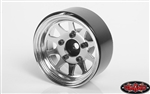 "RC4WD OEM Stamped Steel 1.55"" Beadlock Wheels (Chrome) (4)"
