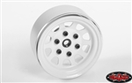 "RC4WD Stamped Steel 1.7"" Beadlock Wagon Wheels (White) (4)"