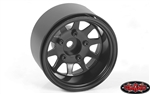 "RC4WD Deep Dish Wagon 1.55"" Stamped Steel Beadlock Wheels Black (4)"