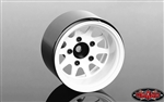 "RC4WD Deep Dish Wagon 1.55"" Stamped Steel Beadlock Wheels White (4)"