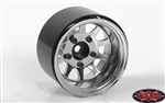 "RC4WD Deep Dish Wagon 1.55"" Stamped Steel Beadlock Wheels Chrome (4)"