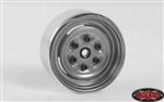 "RC4WD Vintage Yota 6 Lug Stamped Steel 1.55"" Beadlock Wheels (Clear) (4)"