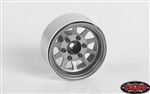 "RC4WD OEM 6-Lug Stamped Steel 1.55"" Beadlock Wheels (Plain) (4)"
