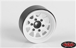 "RC4WD OEM 6-Lug Stamped Steel 1.55"" Beadlock Wheels (White) (4)"