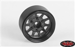 "RC4WD OEM 6-Lug Stamped Steel 1.55"" Beadlock Wheels (Black) (4)"