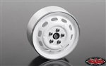"RC4WD Stamped Steel 1.7"" 10-Oval Hole Wheels (White) (4)"