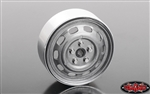 "RC4WD Stamped Steel 1.7"" 10-Oval Hole Wheels (Plain) (4)"